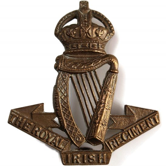 Royal Irish Regiment Royal Irish Regiment BRONZE Officers Collar Badge