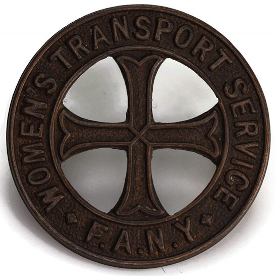 First Aid Nursing Yeomanry Regiment FANY First Aid Nursing Yeomanry Regiment FANY Bronze OFFICERS Collar Badge