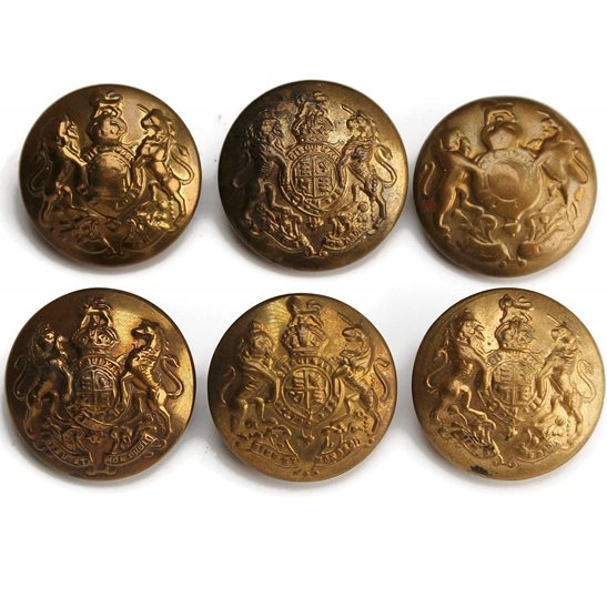 additional image for British Army General Service Buttons NON-MATCHING Set x6 24mm