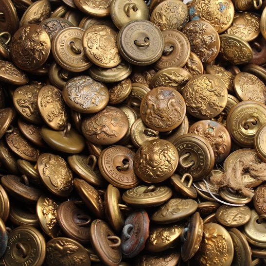 General Service British Army General Service Buttons NON-MATCHING Set x6 24mm
