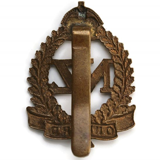 additional image for WW1 New Zealand Army Infantry Forces BRITISH SECTION Cap Badge - OAK LEAVES