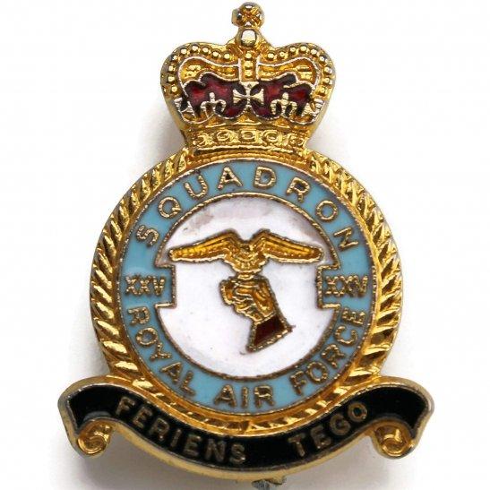 RAF Squadrons XXV 25 Squadron Royal Air Force RAF Lapel Badge