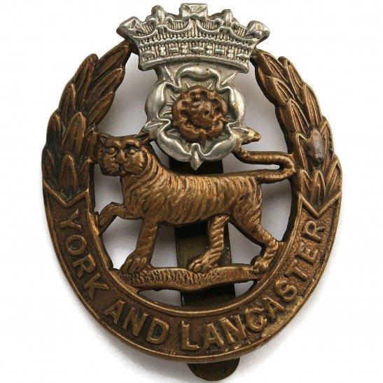 York & Lancaster WW1 York and Lancaster Regiment Cap Badge