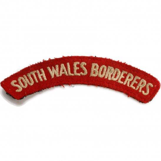 South Wales Borderers WW2 South Wales Borderers Regiment Cloth Shoulder Title Badge Flash