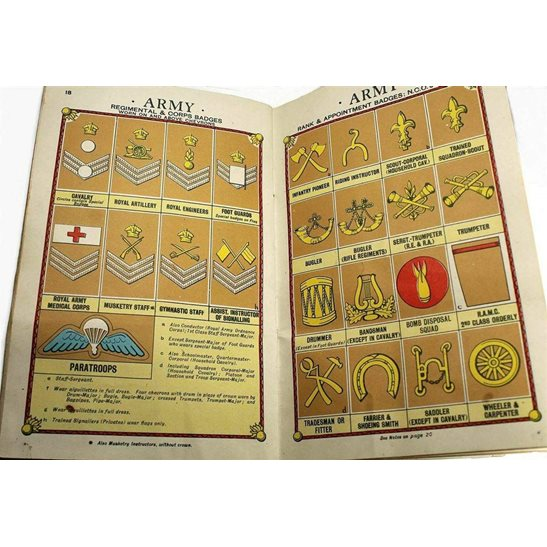 additional image for WW2 1941 Colour Illustrated Booklet Rank and Badges in the Navy, Army, RAF Book