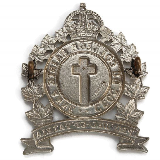 additional image for WW2 Canadian Sainte Anne College Contingent of Canada COTC Cap Badge