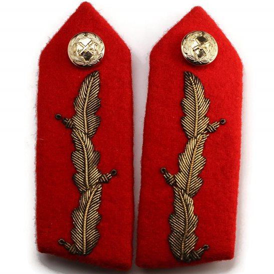 additional image for British Generals Rank Anodised Insignia Red Tab STAYBRITE Collar Gorget PAIR - Staybright