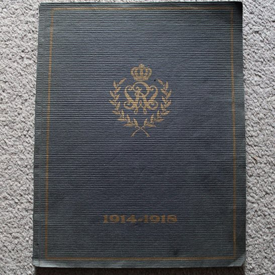 WW1 German Honour Book - Photos of Dead 120th (2nd Württemberg) Regiment Officers KIA Remembrance
