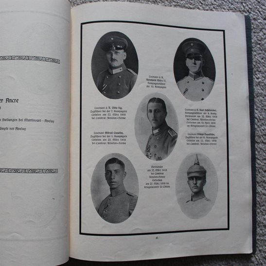 additional image for WW1 German Honour Book - Photos of Dead 120th (2nd Württemberg) Regiment Officers KIA Remembrance