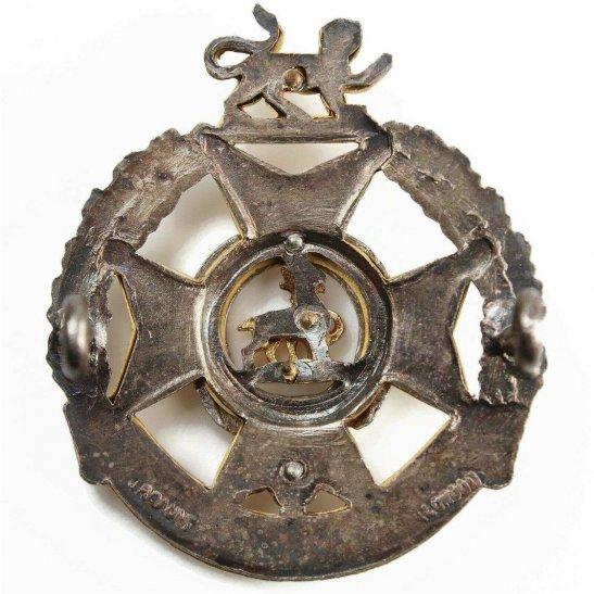 additional image for Forester Brigade Regiment Metal OFFICERS Gilt & Silver METAL Cap Badge - J.R. GAUNT LONDON