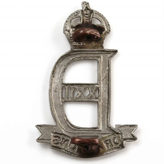 additional image for WW2 WAR RAISED 22nd Dragoons Regiment Cap Badge
