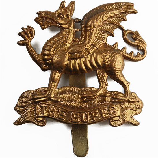 Buffs (Royal East Kent) Royal East Kent (The Buffs) Regiment Cap Badge