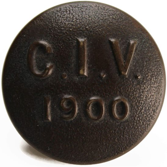 London Regiment Boer War Raised City of London Imperial Volunteers Regiment 1900 Tunic Button - 24mm
