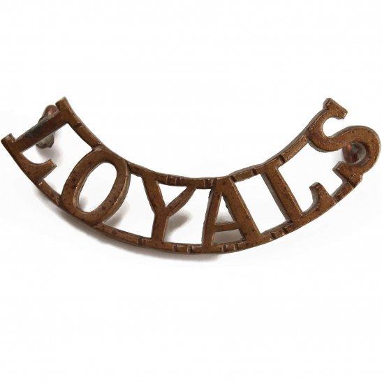 Loyal North Lancashire WW2 Loyal North Lancashire Regiment Shoulder Title