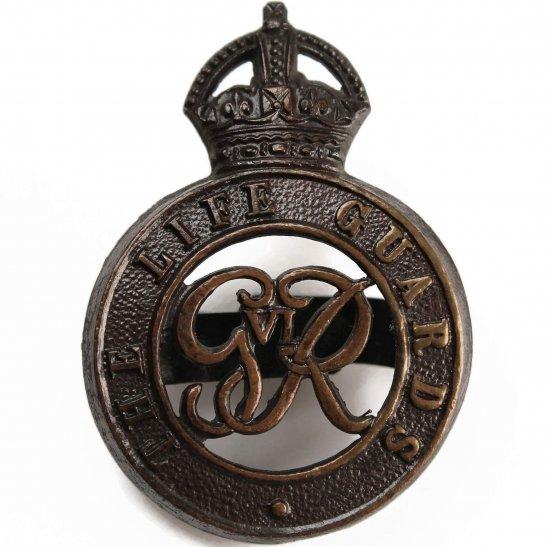 Life Guards WW2 The Life Guards Regiment OFFICERS Bronze George VI Cap Badge