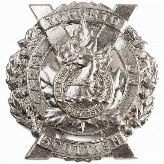 WW2 Canadian Army Canadian Army Toronto Scottish Regiment CEF Cap Badge