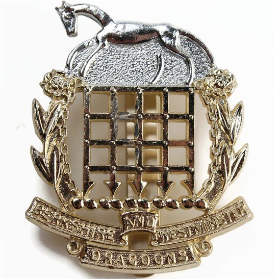 Berkshire and Westminster Dragoons Regiment Staybrite Anodised Cap Badge - Staybright