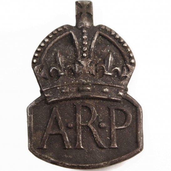 Air Raid Precautions ARP WW2 ARP Warden (Air Raid Precautions) HALLMARKED Silver Lapel Badge - LADIES VERSION