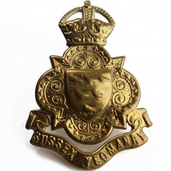 Sussex Yeomanry WW1 Sussex Yeomanry Regiment Cap Badge