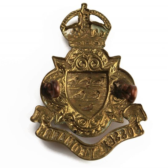 additional image for WW1 Sussex Yeomanry Regiment Cap Badge