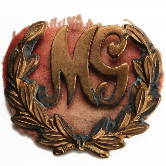 Machine Gun Corps MGC WW1 Machine Gunner Gun Arm / Sleeve Proficiency Trade Badge - SINGLE CONSTRUCTION