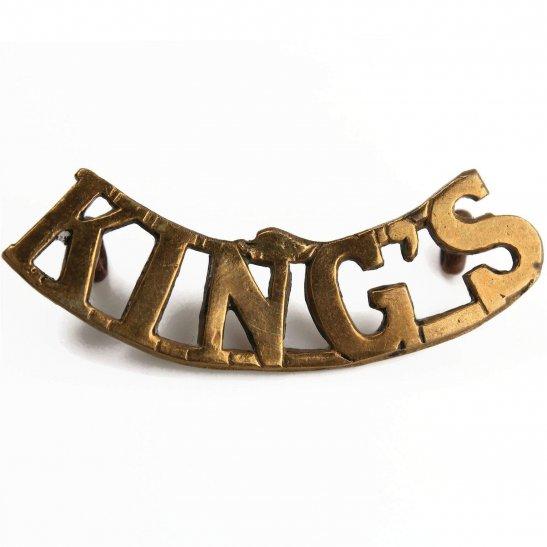 Kings Liverpool Kings Liverpool Regiment (King's) Shoulder Title