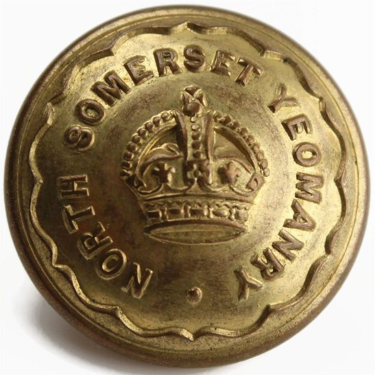 North Somerset Yeomanry North Somerset Yeomanry Regiment Tunic Button - 24mm