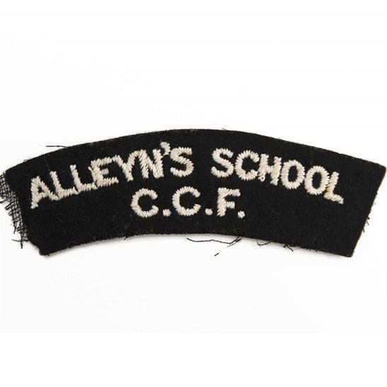 Officer Training Corps OTC Alleyn's School CCF Combined Cadet Force Cloth Shoulder Title Badge Flash