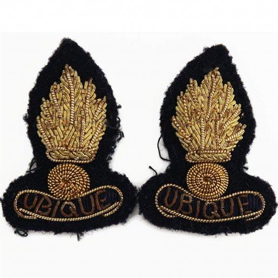 Royal Engineers Royal Engineers Corps OFFICERS Bullion Dress Collar Badge PAIR