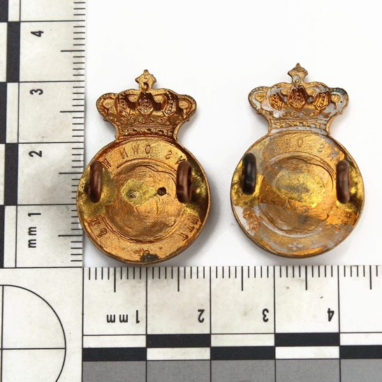 additional image for VICTORIAN 7th Queens Own Hussars Regiment (Queen's) Collar Badge PAIR