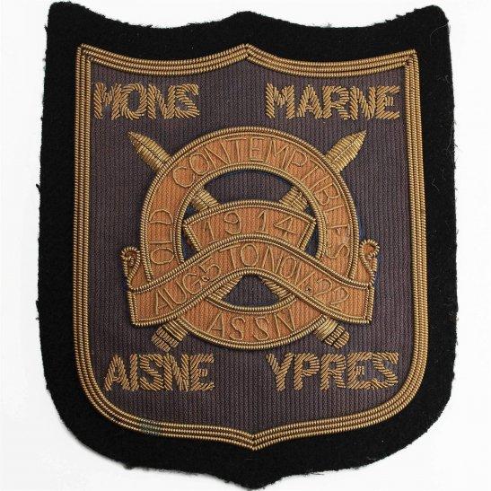 1914 Old Contemptibles Association Cloth WIRE Bullion Veterans Blazer Badge