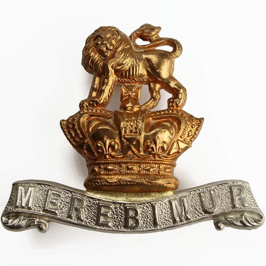 15th Kings Hussars VICTORIAN 15th The Kings Hussars Regiment King's Collar Badge