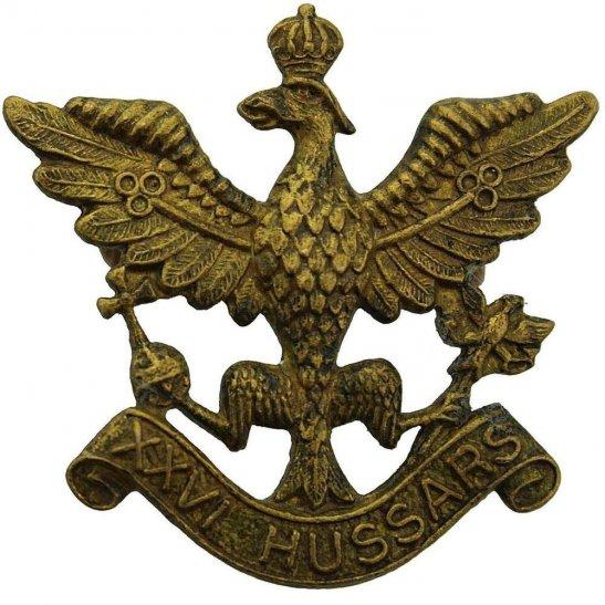 26th Hussars WW2 RAISED 26th Hussars Regiment Cap Badge