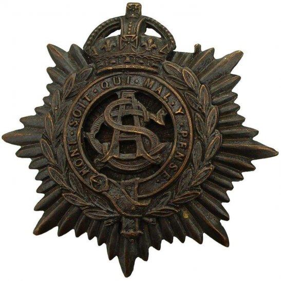Army Service Corps ASC WW1 Army Service Corps ASC OFFICERS Bronze Cap Badge