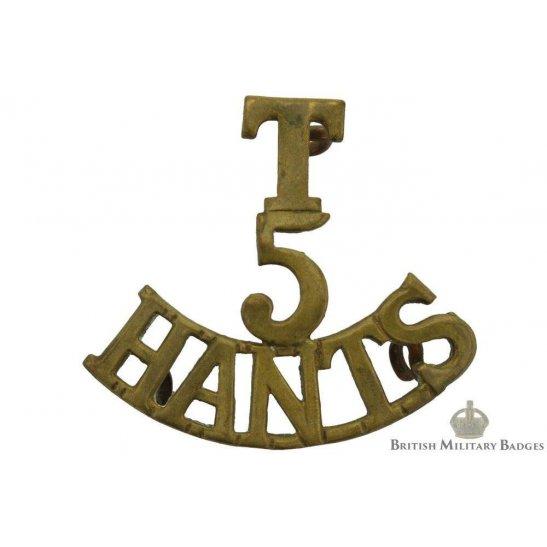 5th Territorial Battalion Hampshire Regiment Shoulder Title