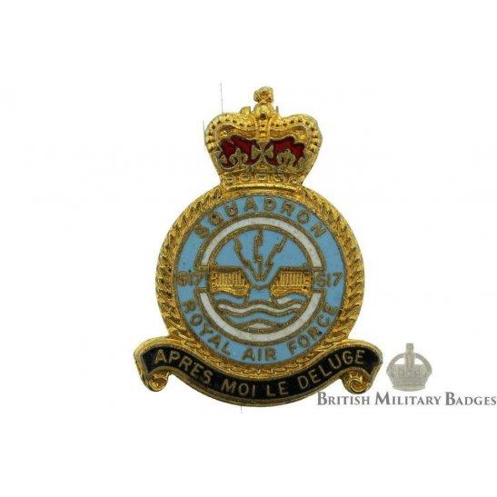 617 (Dambusters) Squadron Royal Air Force RAF Lapel Badge