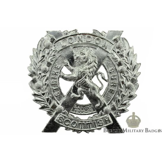 The London Scottish Regiment Staybrite Cap Badge