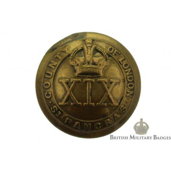 19th Battalion (St. Pancras) County of London Regiment Tunic Buttons - 26mm