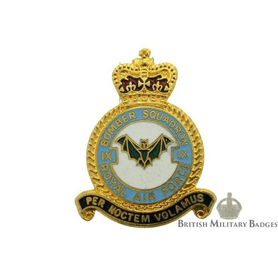 9 (IX) Bomber Squadron Royal Air Force Lapel Badge RAF