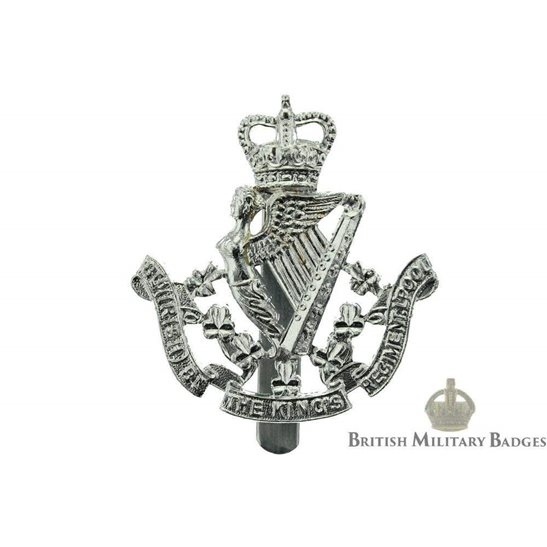8th Irish Battalion The King's (Liverpool) Regiment Staybrite Cap Badge