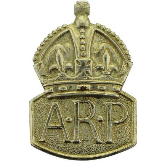 Air Raid Precautions ARP WW2 ARP Warden (Air Raid Precautions) LUGS VERSION Silver Lapel Badge - MENS