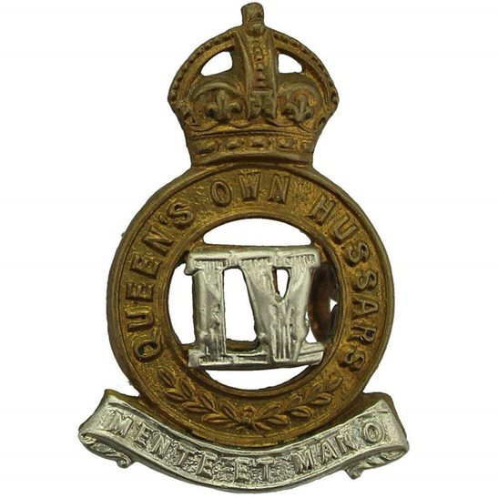 4th Hussars 4th Queens Own Hussars Regiment Collar Badge