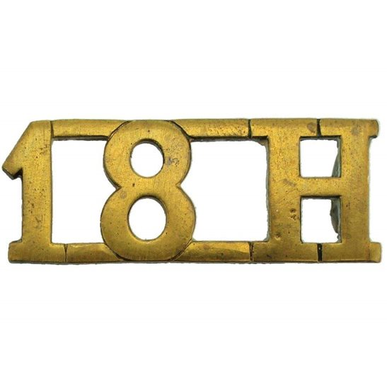 18th Hussars WW1 18th Hussars (Queen Mary's Own) Regiment Shoulder Title 18H
