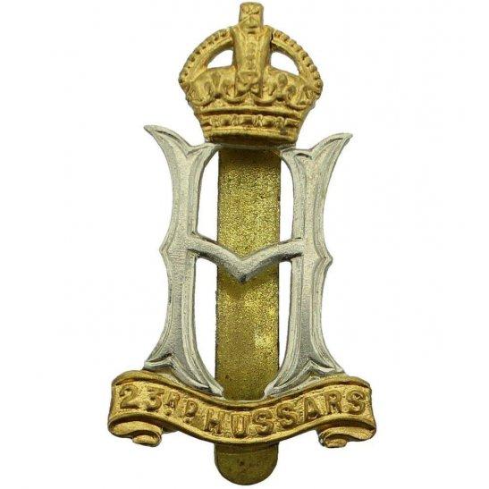 23rd Hussars WW2 23rd Hussars Regiment Cap Badge