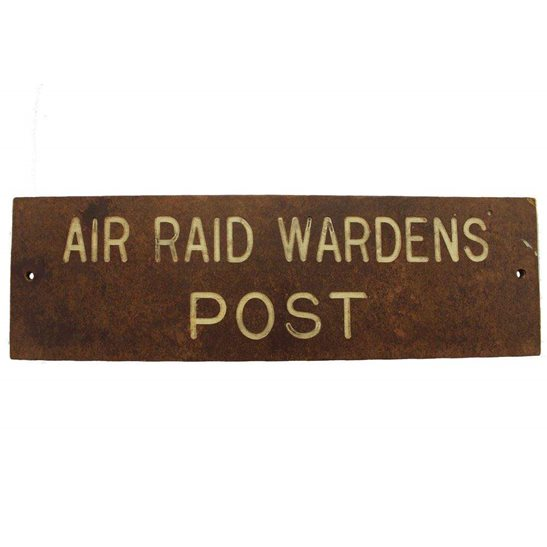 Air Raid Precautions ARP WW2 Air Raid Precautions Warden ARP Post Bakelite Door Plaque Sign