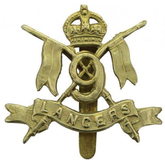 9th Queens Royal Lancers WW1 9th Queens Royal Lancers Regiment Cap Badge