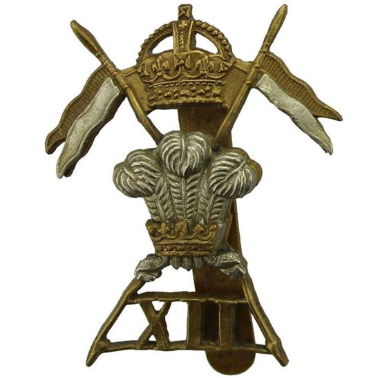 12th Lancers WW1 12th Royal Lancers Regiment Cap Badge