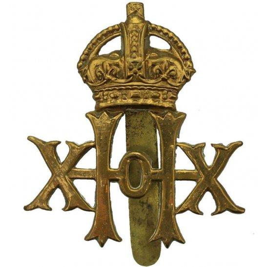 20th Hussars WW1 20th Hussars Regiment Cap Badge