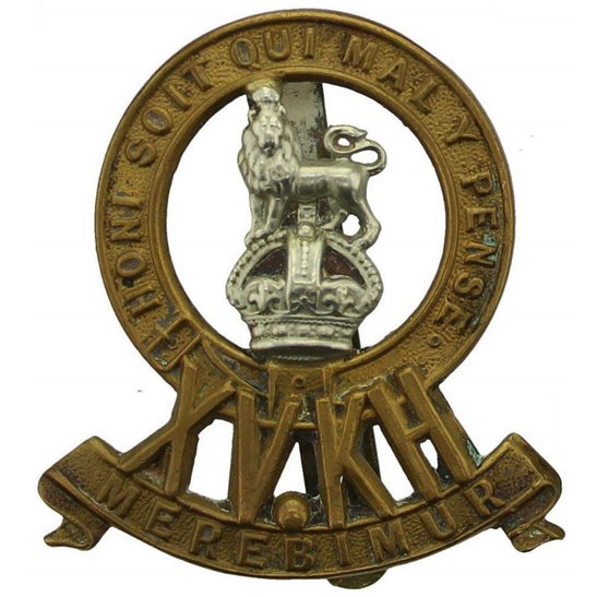 15th Kings Hussars WW1 15th The Kings Hussars Regiment King's Cap Badge