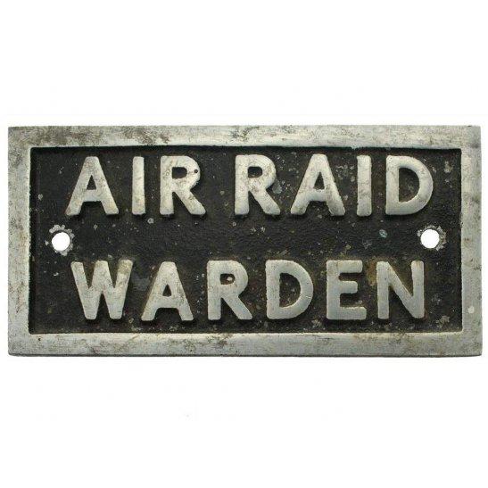 Air Raid Precautions ARP WW2 Air Raid Precautions Warden ARP Post Metal Door Plaque Sign